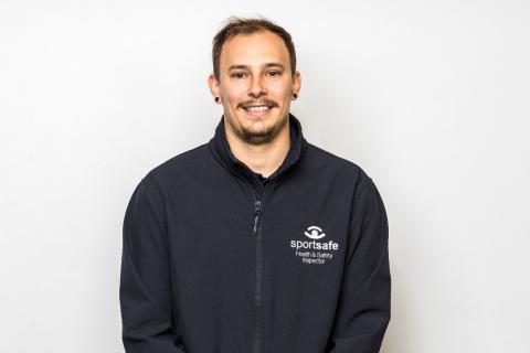 Sportsafe's Aaron Owen, ISO 17020:2012 trained Inspector
