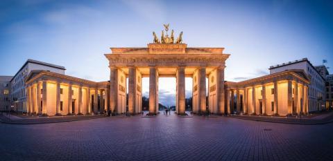 Famous Brandenburg Gate across from Avenue Code's new European office