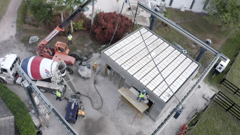 The walls of the 71 m2 (784 sf) building have been printed and an insulated roof put it